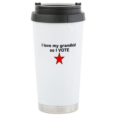 I love my grandkid so I Vote with red star Stainle