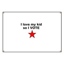 I love my kid so I vote with red star Banner
