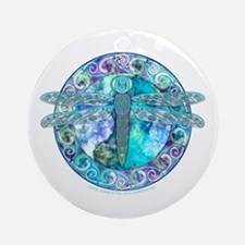 Cool Celtic Dragonfly Ornament (Round)