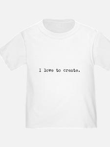 I Love to Create T