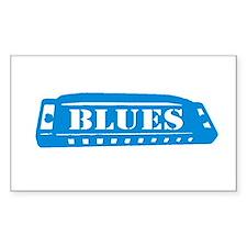 Blues Harmonica Rectangle Decal