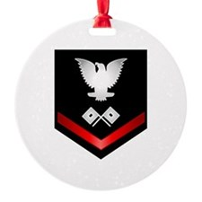 Navy PO3 Signalman Ornament