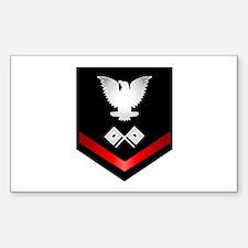 Navy PO3 Signalman Sticker (Rectangle)