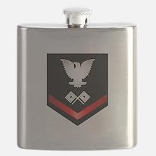 Navy PO3 Signalman Flask