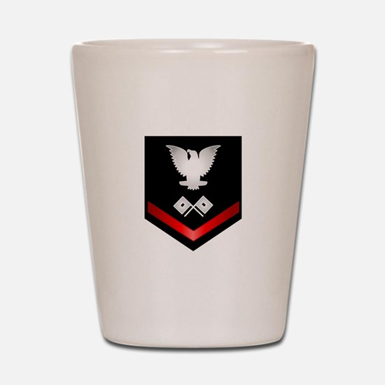 Navy PO3 Signalman Shot Glass