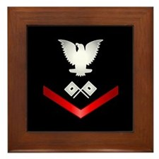 Navy PO3 Signalman Framed Tile