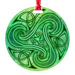 Celtic Triskele Round Ornament
