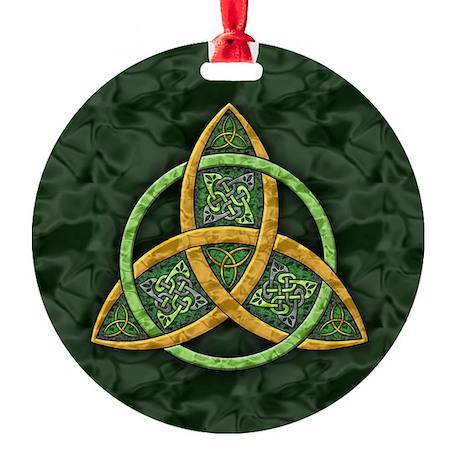 Celtic Trinity Knot Round Ornament