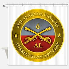6th Alabama Cavalry Shower Curtain