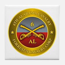 6th Alabama Cavalry Tile Coaster