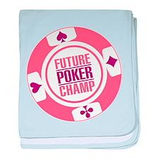 Future Poker Champ baby blanket