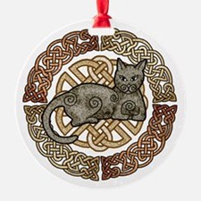 Celtic Cat Ornament