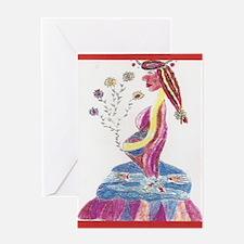 Pregnant Mermaid Greeting Card