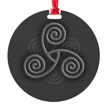 Celtic Triple Spiral Round Ornament