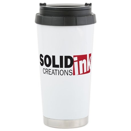 The Solid Ink Creations Logo Stainless Steel Trave