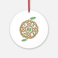 Celtic Nature Yin Yang Ornament (Round)