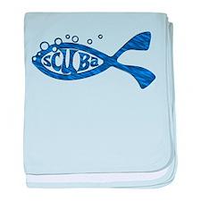 Scuba Fish Blues baby blanket