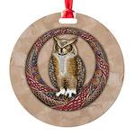 Celtic Owl Round Ornament