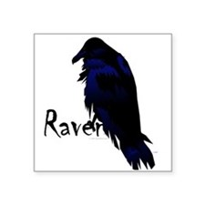 "Raven on Raven Square Sticker 3"" x 3"""