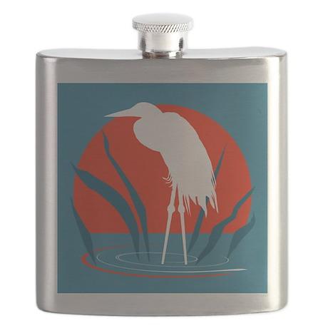 White Crane Flask