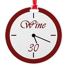 Wine 30 Clock Ornament