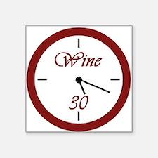 """Wine 30 Clock Square Sticker 3"""" x 3"""""""