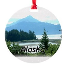 Alaska Scenic View Round Ornament