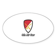 6th Air Cavalry Oval Decal