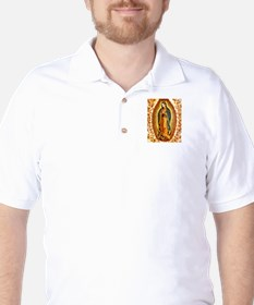 Guadalupe with Roses Golf Shirt