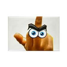 pissed off The bird Rectangle Magnet (10 pack)