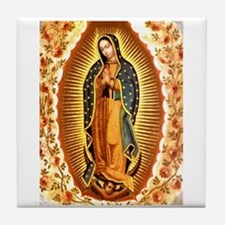 Guadalupe with Roses Tile Coaster