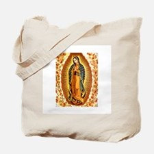 Guadalupe with Roses Tote Bag