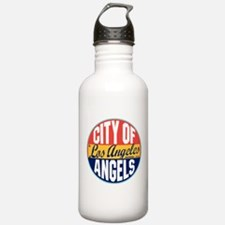 Los Angeles Vintage Label Water Bottle