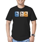 Be Real periodic table Men's Fitted T-Shirt (dark)