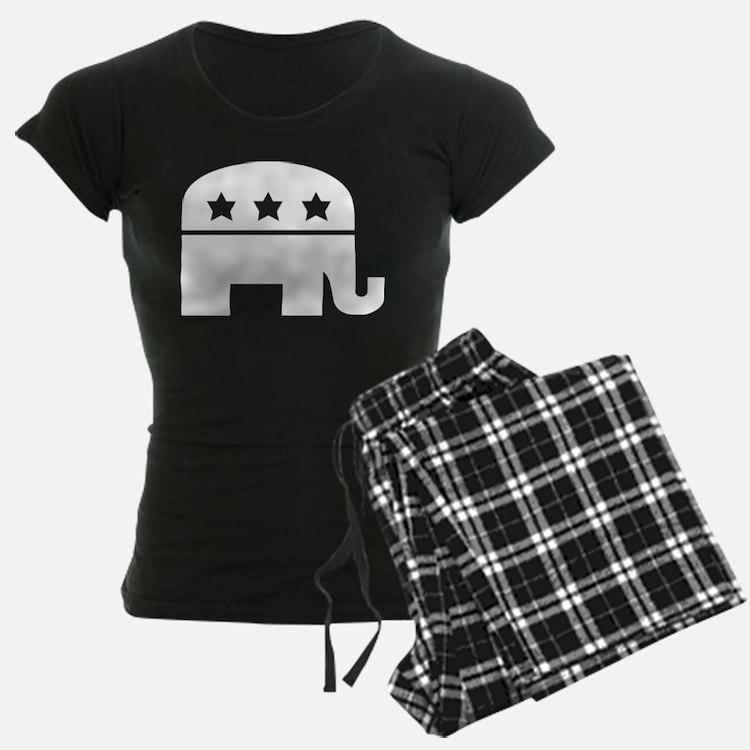 Republican Elephant White Pajamas