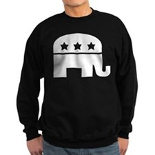 Republican Elephant White Sweatshirt