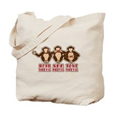 Text No Evil Tote Bag