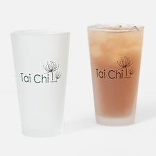 """Tai Chi Growth 3"" Drinking Glass"
