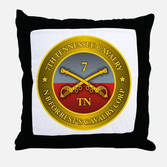 7th Tennessee Cavalry Throw Pillow