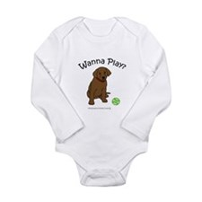 Unique Chocolate lab mom Long Sleeve Infant Bodysuit
