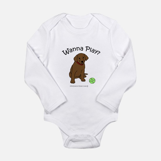 Cute Chocolate lover Long Sleeve Infant Bodysuit