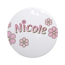 Special Order Name Flowers Ornament (Round)