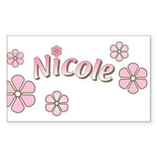 Special Order Name Flowers Rectangle Decal