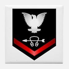Navy PO3 Sonar Technician Tile Coaster