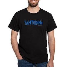 Santorini - Black T-Shirt