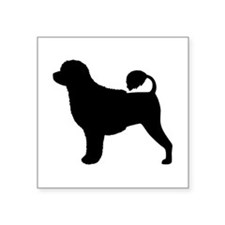 "Portuguese Water Dog Square Sticker 3"" x 3"""