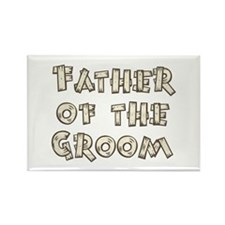 Country Father of the Groom Rectangle Magnet