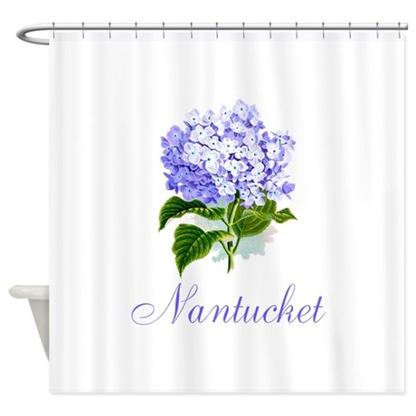 Nantucket shower curtain by hydrangeas by the sea for Nantucket by the sea