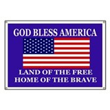 God bless america Banners