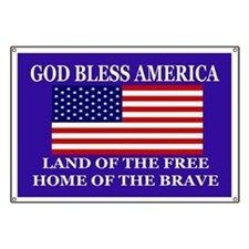 Bless America Yard Sign Banner